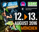 Boulder Worldcup am 12. + 13. August in München